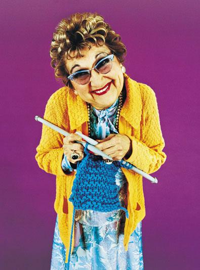Get Knitting Grandma : Purl two the needle magazine flash challenge going